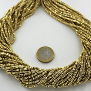 Gold_Plated_Pyrite_Tyre_Faceted_Beads_BY_Ariyangems